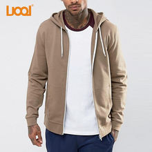 Top Quality Custom Fleece 100 Cotton Plain French Terry Zip Up Hoodie