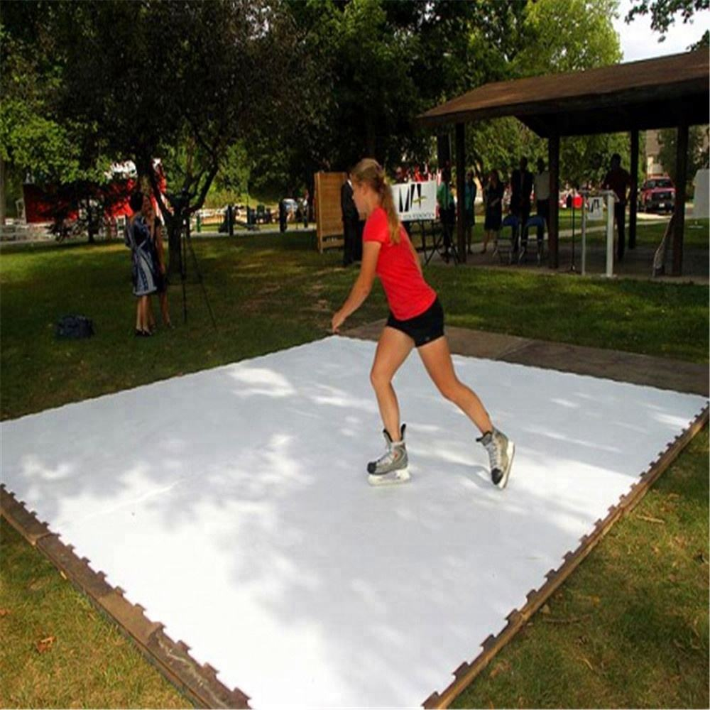 Plastic hockey pad/uhmwpe synthetic ice rink panel/curling practice floor