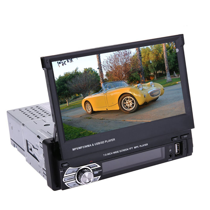 7inch scaling car MP5 player with HD TFT sliding touch screen car MP5 player support bluetooth hand free call/mirror link