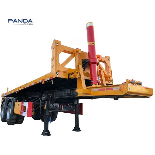 Panda Trailer Sản Xuất 40ft 45ft container nghiêng giường truck trailer container nghiêng truck trailer container tipping xe tải