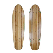 Medallion Pattern Bamboo Veneer Mixed Stained Canadian Maple Blank Mini Skateboard Cruiser Boards Deck