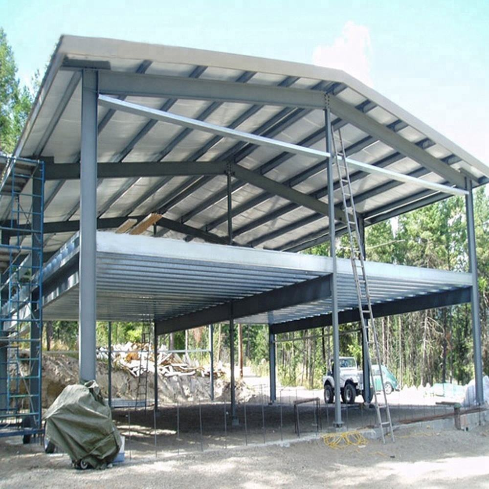 Light Prefab Two Story Shed Steel Structure Workshop Building Warehouse For Hot Selling