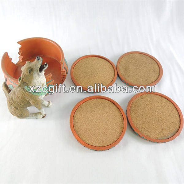 Indian Wolf Coaster,Cup Pads,Cup Mats