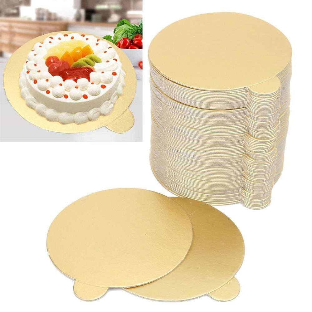 Displays Wedding Mayitr Cupcake Dessert Tray Gold Paper Mousse Cake Board Rounds