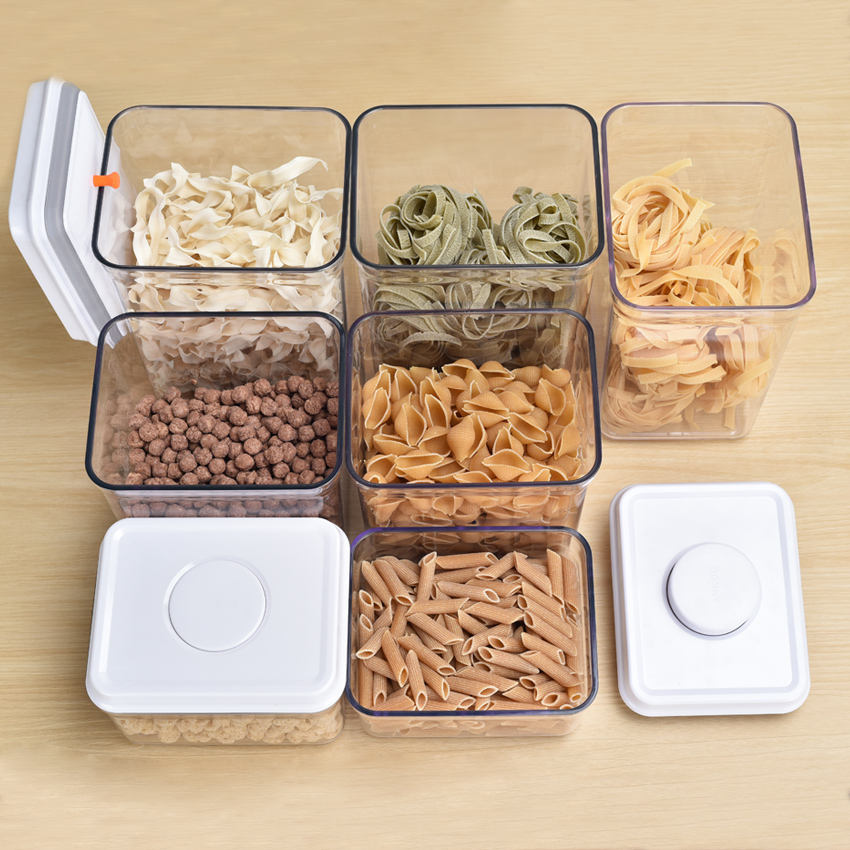 Various Sizes Plastic Food Container Box ,Plastic Dry Food Dispenser Food Storage Container For Microwave