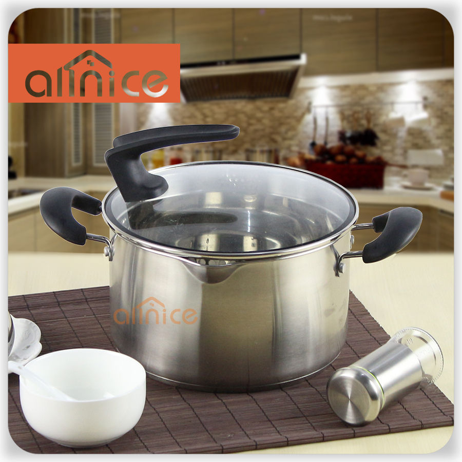 The pacifier design high-end kitchen stainless steel soup pot