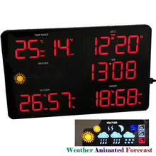 New Smart LED Wall Clock with Weather Forecast