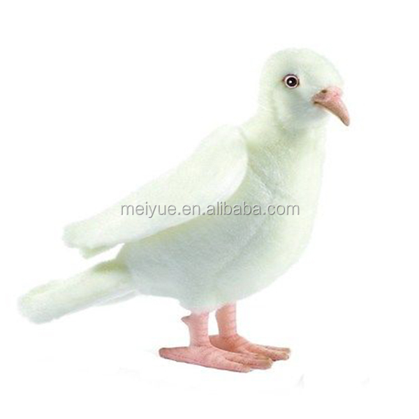 Wholesale Professional Plush Toys New Stuffed Design White Pigeon