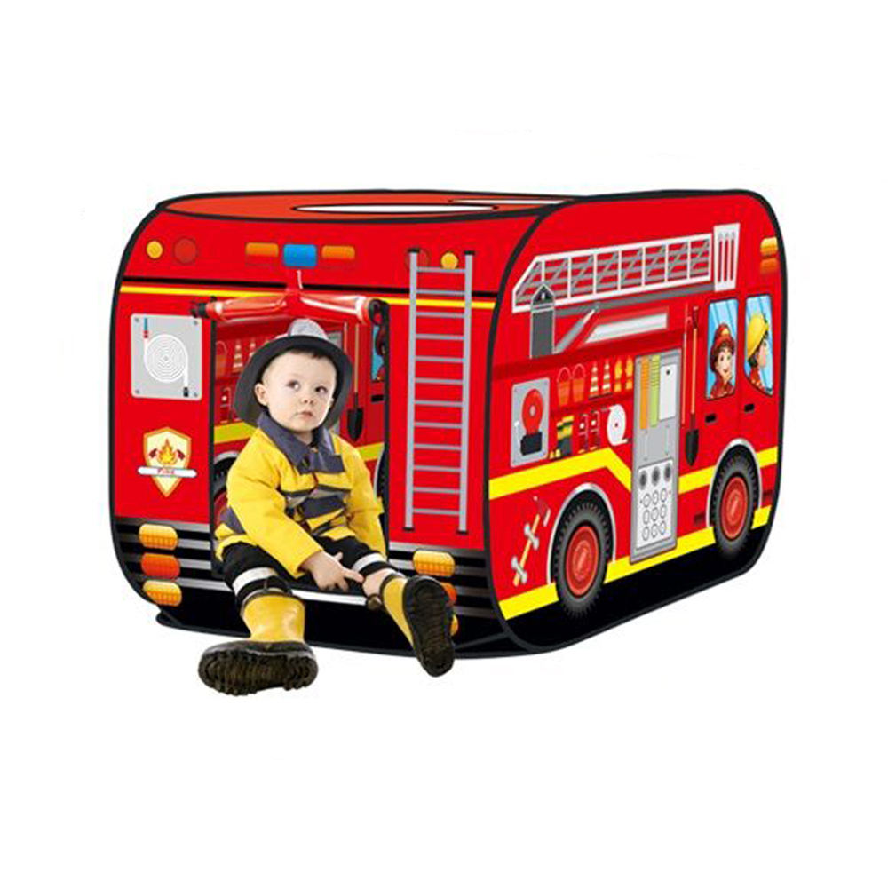 Children folding fire engine car play tent in good quality