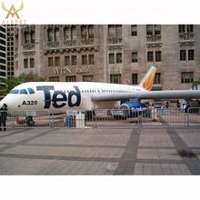 Customized Giant Advertising Transportation 10m Inflatable Airplane/Airbus/aircraft/aeroplane in advertising inflatable