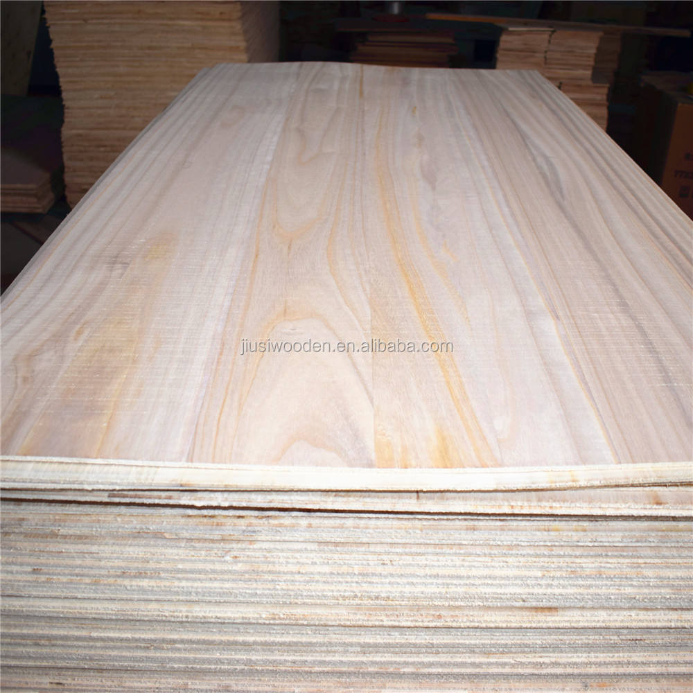 Paulownia Wood Board Paulownia Timber Wood Bleached Edge Glue Boards For Construction