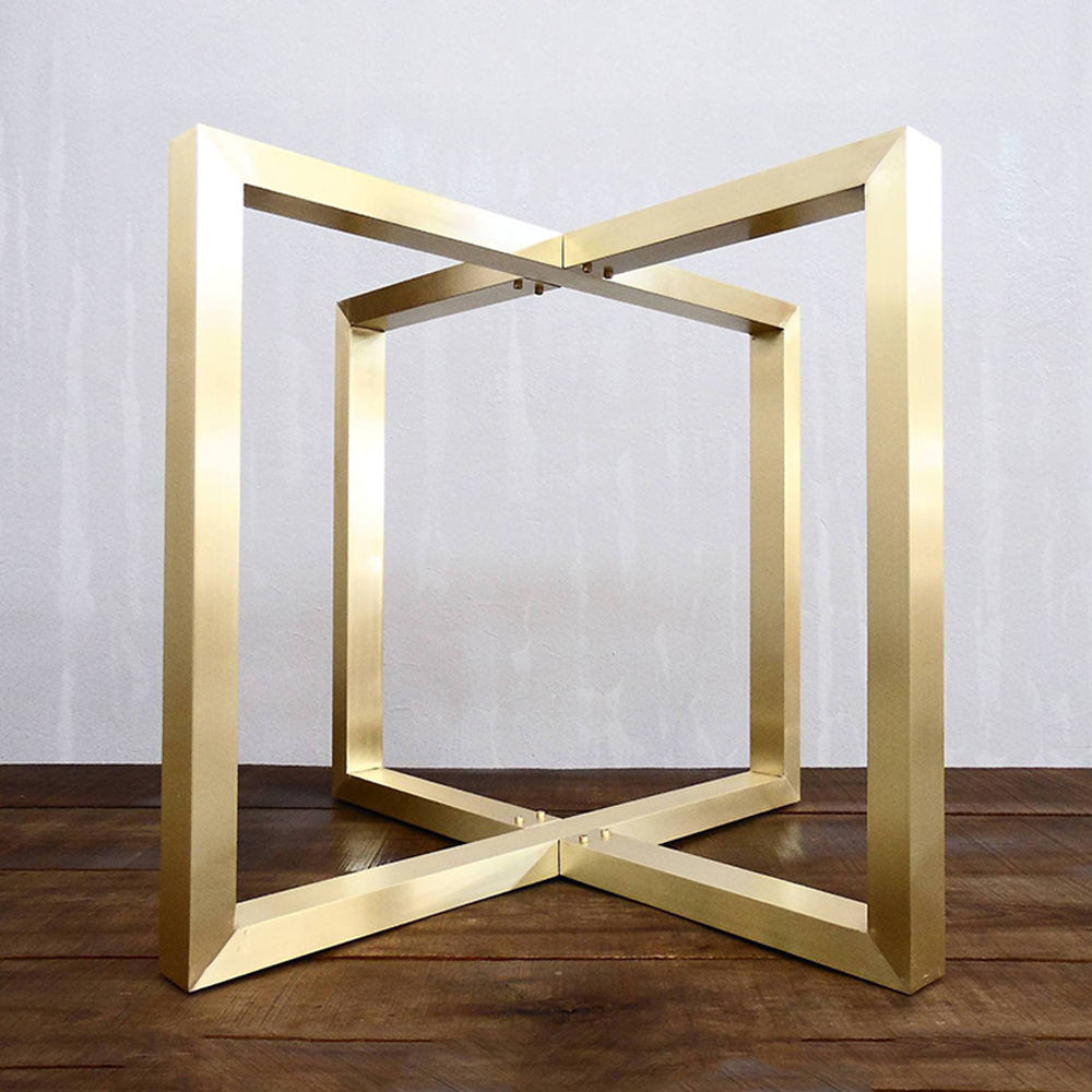 Top Sale Metal Gold Table Base For Dining Restaurant Table
