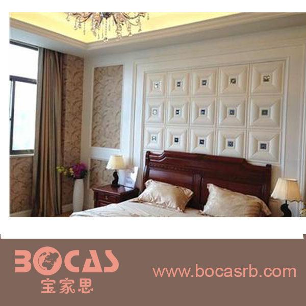 نوعية جيدة البلاستيكية الداخلية المزخرفة وألواح الجدران الجدران الخلفية 3d السرير