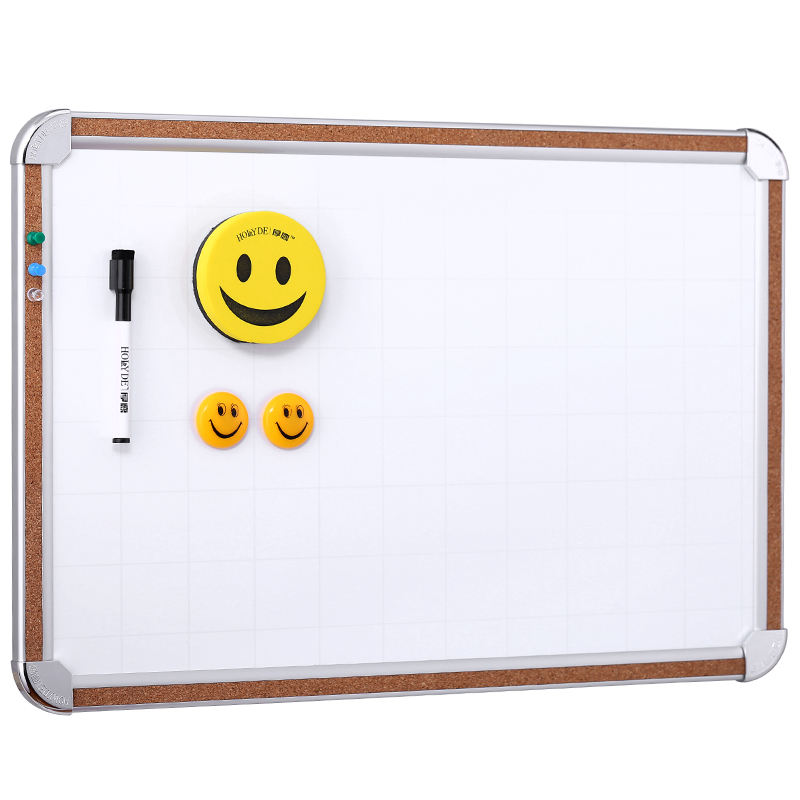 40x60cm Cheap price cork aluminum framed dry erase student magnetic erasable whiteboard with Grid