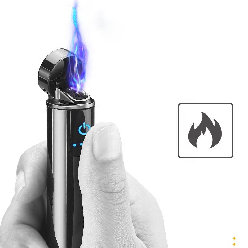 New Launched Zinc Alloy Rechargeable Double Arc Electric USB Lighter for wholesale