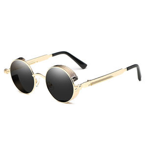 Luxury Metal Sunglasses unisex Round Sun glasses Steampunk Coating Glasses Vintage Retro Lentes Male