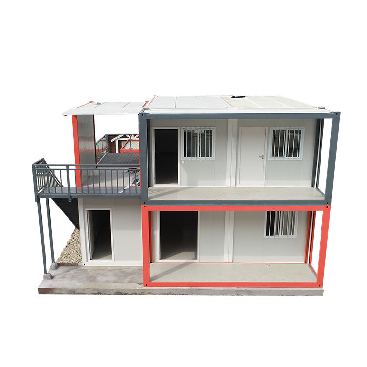 20 ft / 40 feet Sandwich penal flat pack container house with 3 bedroom