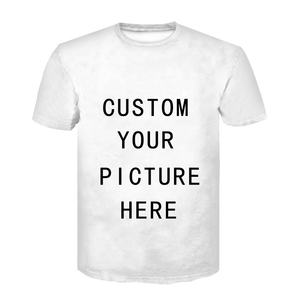 Custom T Shirts Blank T Shirts Print Tops Men Personalized Customised Picture Printing 3D T-shirt Short Sleeve O-Neck Tees