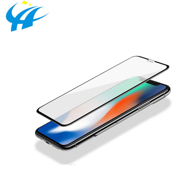cheapest mobile screen tempered glass 2.5d 0.33mm membrane mobile tempered glass protective film for iphone xs xr xs max
