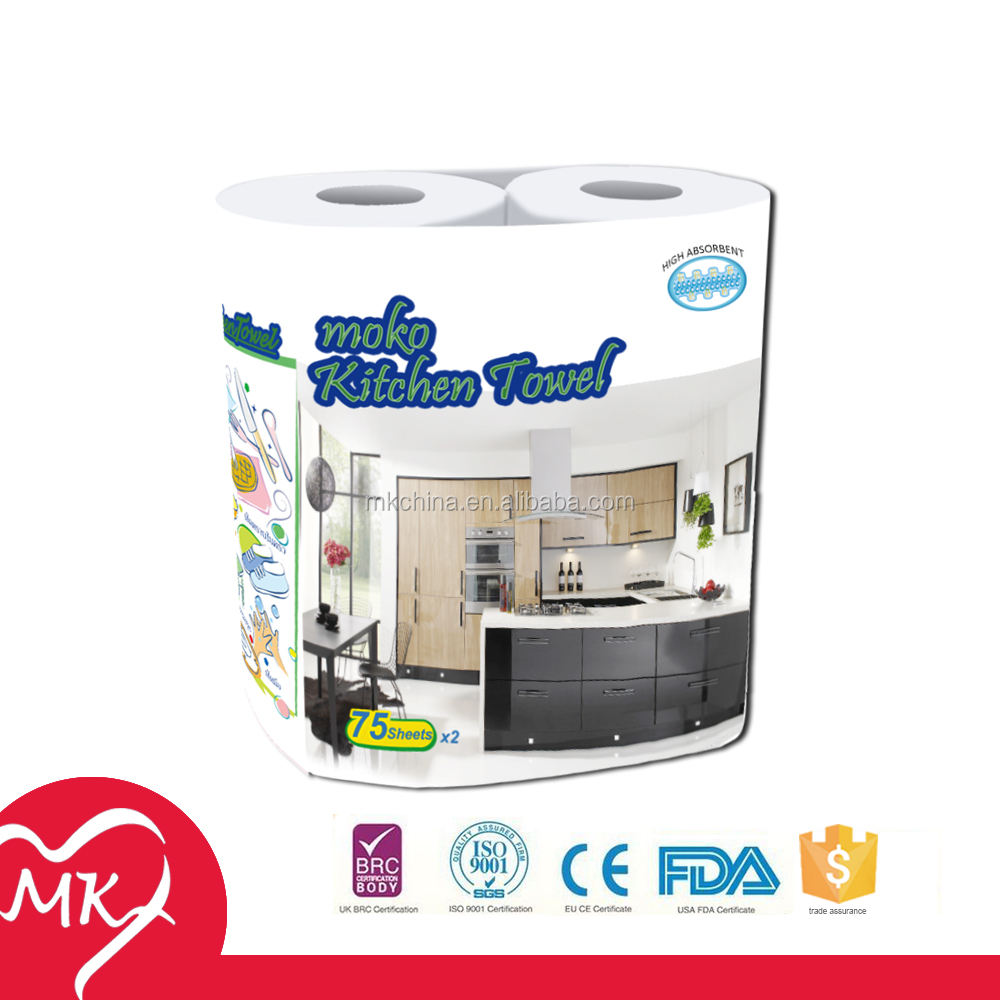 Customized 100% virgin wood pulp cheap thermal high absorbency kitchen tissue paper parent jumbo roll rack