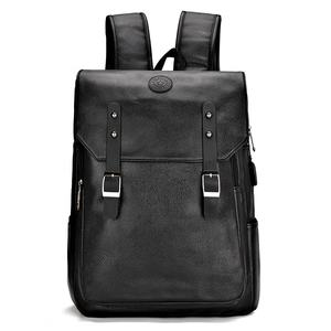 Nieuwe Fashion Design Mannen Pu Rugzak Multi-Funfaction School Bagpack Lederen Laptoptas