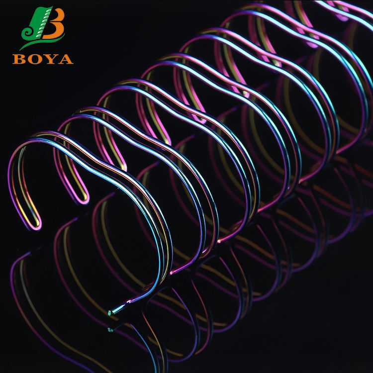 BOYA Hot Spiral O Double Loop Binding Wire Twin Ring Loop Wire For Book Binding