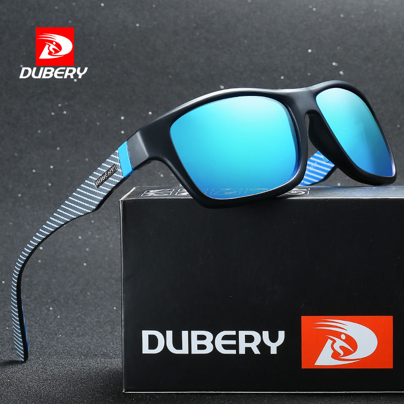 DUBERY D732 Fashion Rectangle Men Polarized Sport Sunglasses 2019 Fishing Sun Glasses Wholesale uv400 with Box