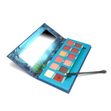 12 Colors Shimmer  Waterproof  Nature Vegan Eyeshadow Palette Portable Cosmetics