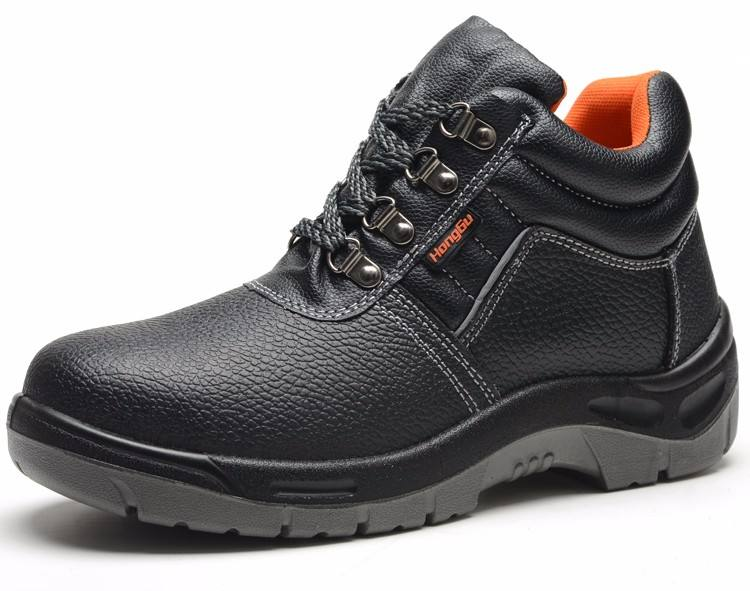 Hot Selling Cheap Genuine Leather CE S1P S3 Safety Shoes with Steel Toe and Steel Plate