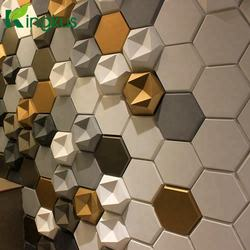 3D acoustic wall panel fiberglass resin polyester sound absorber