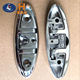 boat accessories 6 inch mirror polished 316 stainless steel folding boat cleat marine supplies