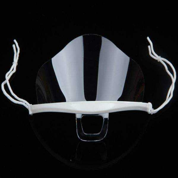 Mask for waiter kitchen transparent hygiene sanitary plastic