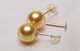 Karat Earrings Earrings 18K Karat Golden Color Natural Real South Sea Pearl Earrings With 9-10mm AAA Perfect Round Pearl