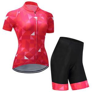 Wholesale cheap women cycling clothing jersey set design your own bicycle wear