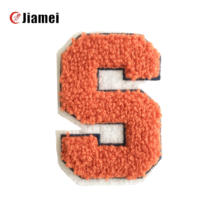 On Towel Chenille Embroidery Patch/badge Embroidered Patches Handmade Eco-friendly for Clothing Letter Iron Wholesale Cheap 3D