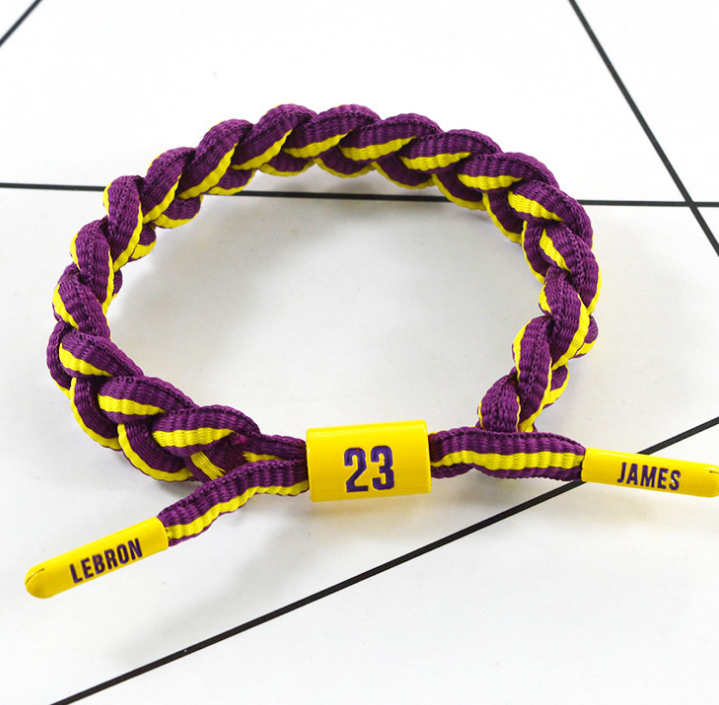 Basketball Sport Competition Fans shoelace bracelet braided for cheering squad