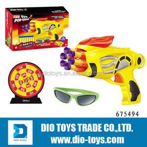 اللون مختلطة مضحك رخيصة 2 bbs بندقية الهواء الناعمة، bb مع 8 إيفا رصاصة بندقية الهواء، الهدف والنظارات سلامة ألعاب للأطفال