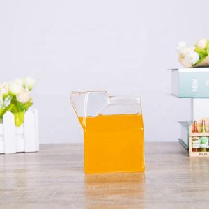 Kreative design transparent hohe borosilikatglas milch box