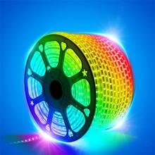 LED Strip Light Waterproof LED Tape AC 220V SMD 5050 RGB 60LED Flexible LED Light strip for Living Room Outdoor Lighting