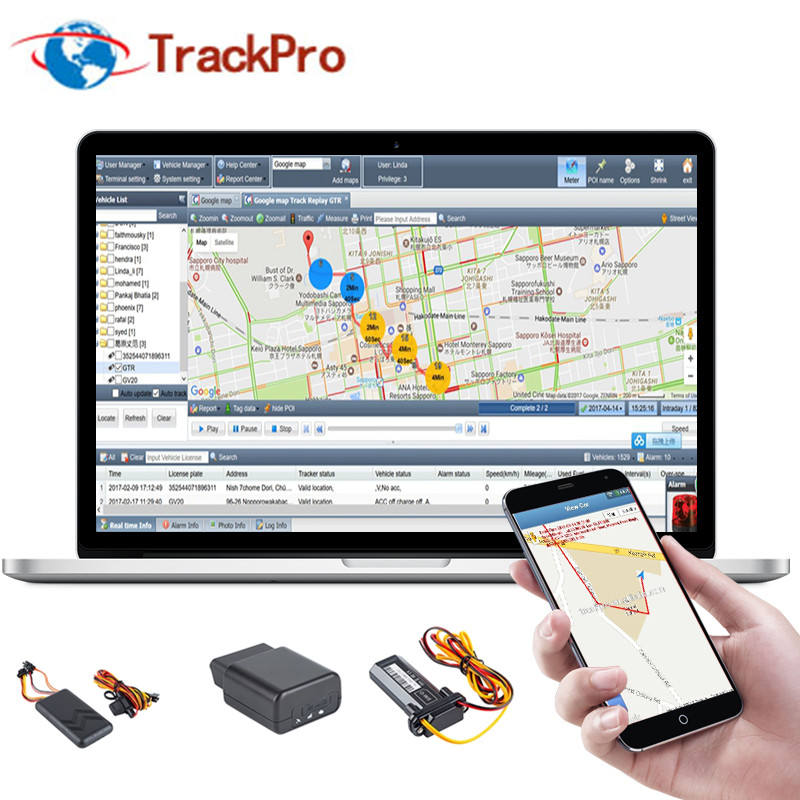 GPS Tracking platform software voor fleet management systeem met camera monitoring ondersteuning aanpassen camera APP
