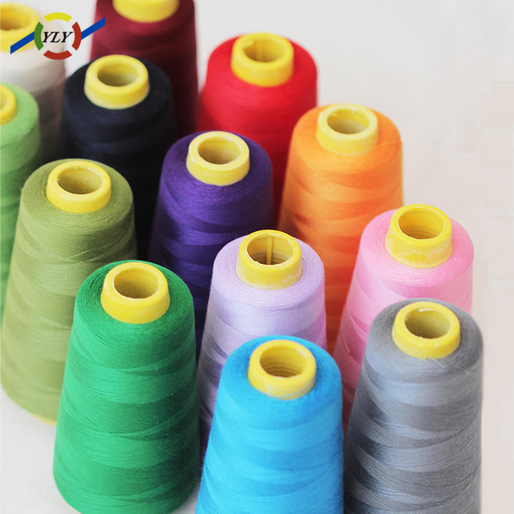 cotton wrapped poly core spun polyester sewing thread for raw material buyers