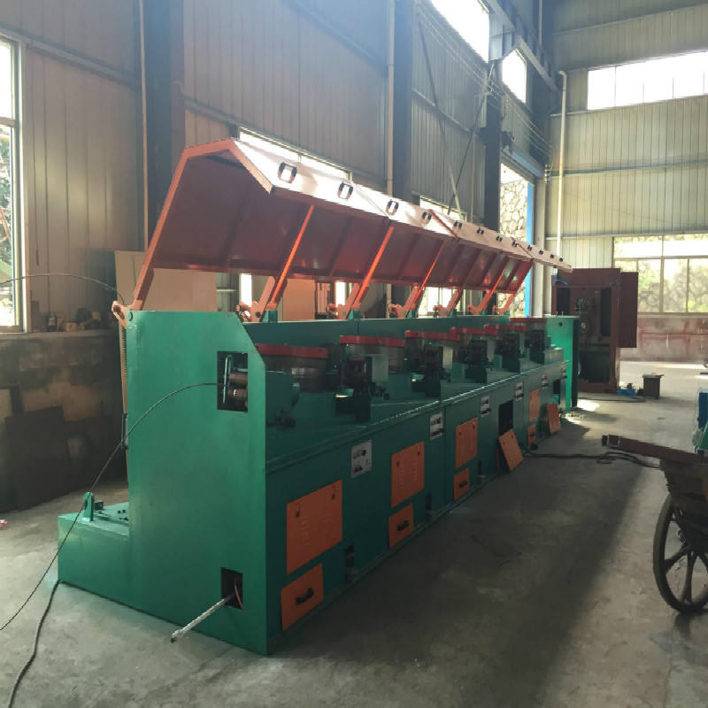 Mild / Low or high Carbon Galvanized steel drawing machine for wet water tank steel wire rope making machine or nail making