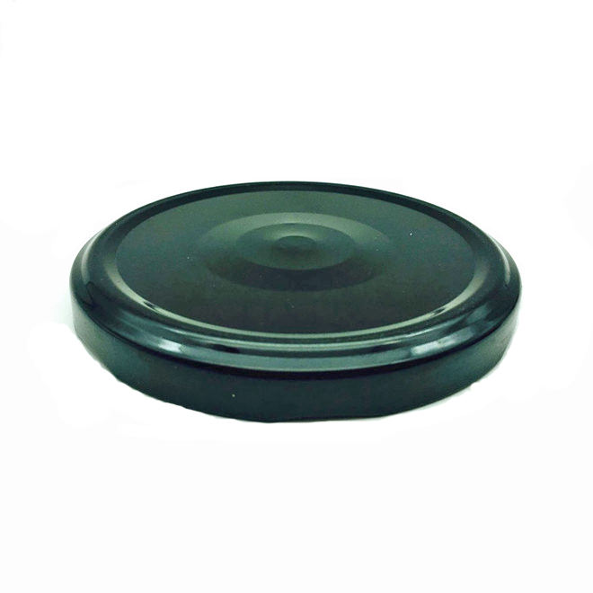 82mm black pop safety button metal twist off lug cap for canning jar lid