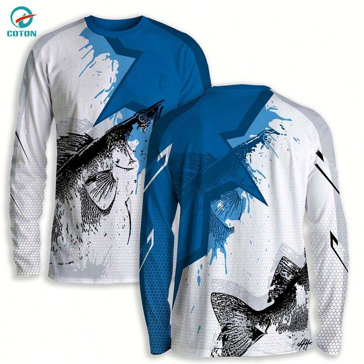 Dream Sport Custom Outdoor Fishing Shirts Wholesale Long Sleeve Sport Fishing Clothes