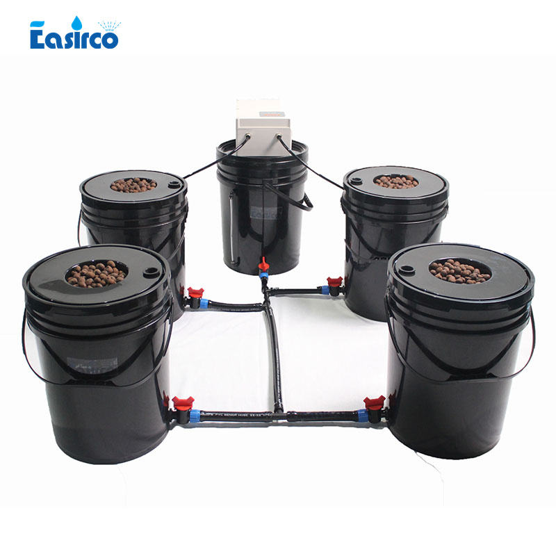 5 round Bucket Aeroponic System For Home Hydroponics. Aeroponics container hydroponic hydroponic growing systems