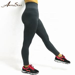 AMESIN YLP051 92% Nylon 8% Spandex Colombian Elastic Band Butt Lifter Leggings