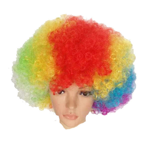 Cheapest Wig Manufacturer Adult Clown Afro Wig For Man Woman Afro Kinky Curly Ombre Hair For Party