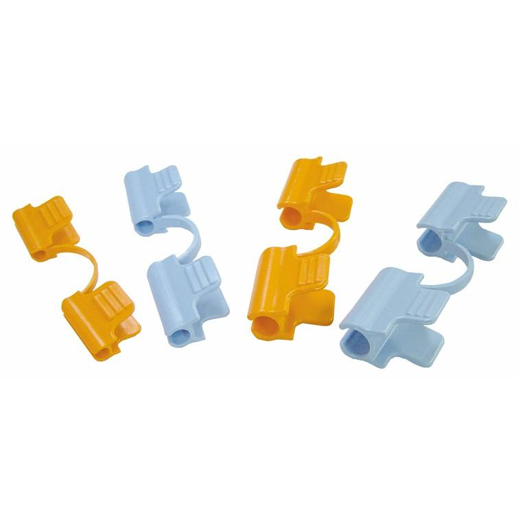 Garden Plant Support Double Clips Plastic Locking Clamps
