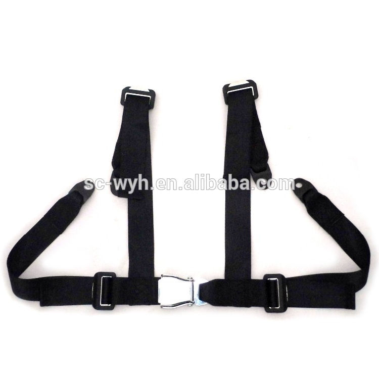 Four points harness racing car seat safety belt