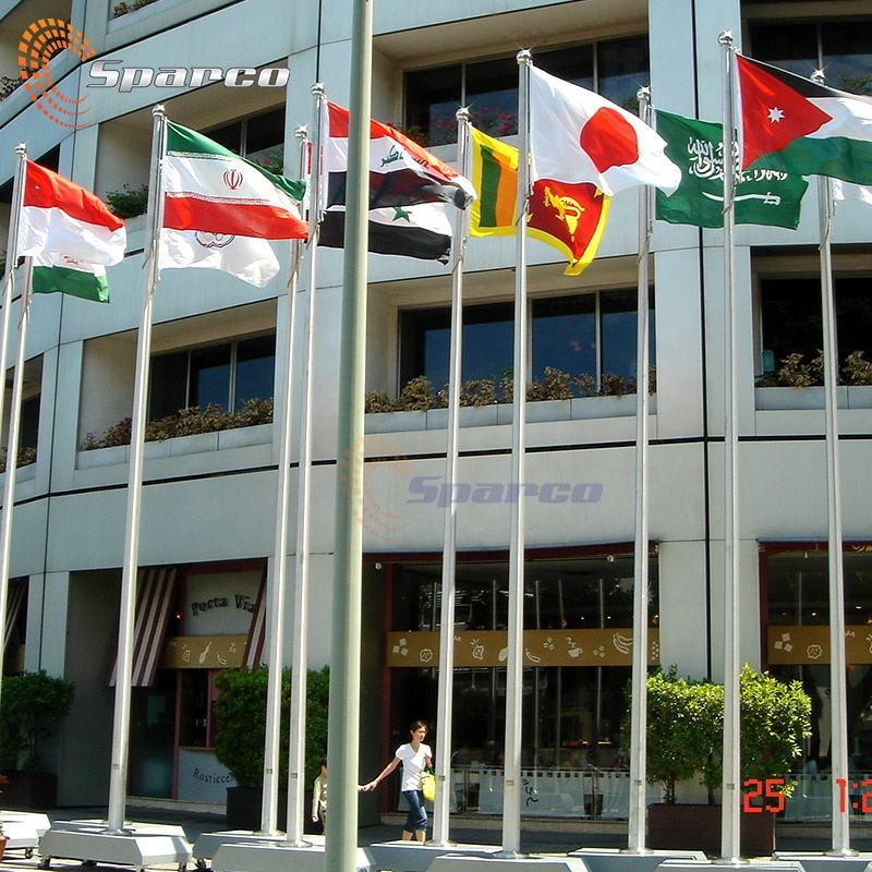 Custom 9m aluminum 30ft flagpole exported to Singapore Youth Asian Games flag pole for sales